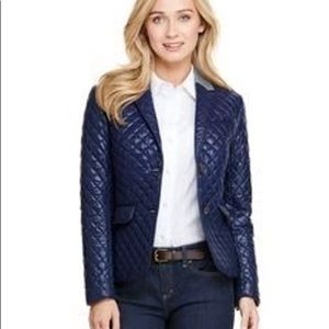 Vineyard Vines Navy Blue Quilted Blazer